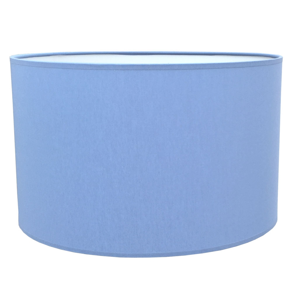 Drum Table Lampshade Mid Blue